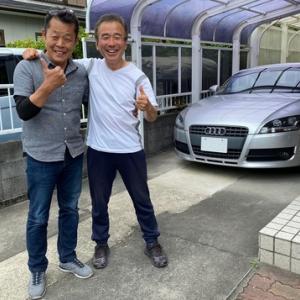 愛車の車検のご依頼を頂き久し振りにお会いできた日本を代表するモーターサイクルジャーナリスト和歌山利宏さんと!