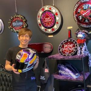 新たなカスタムペイントを施すアライヘルメットのデザイン!自己満足を極める為にあえて埼玉県のスペシャリストの元へ!!