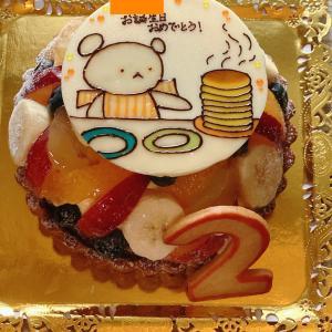 しろくまちゃんのお誕生日ケーキ