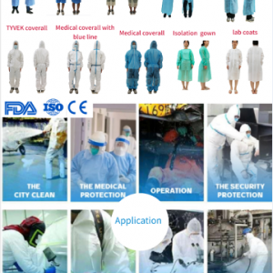 disposable coverall class 5 35-70gsm washable AAMI level 2 disposable gown impervious AAMI level 3 disposable SMS suit