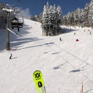 スキー2回目 メガヒラにて