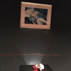 水彩画☆バイブバーにアマビエの絵を展示してきました