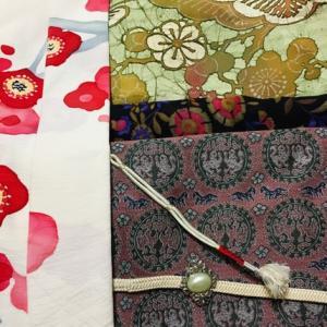 1月の着物。梅の着物と梅の羽織