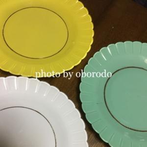 お買い物自慢☆綺麗な色のガラスのお皿