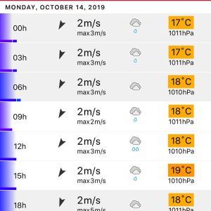 あれ?明日雨?