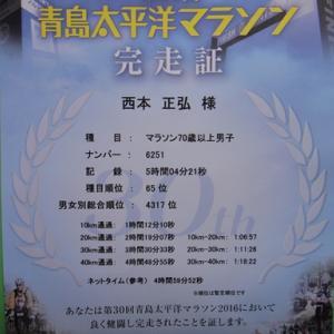 青島・太平洋マラソンキャンセル