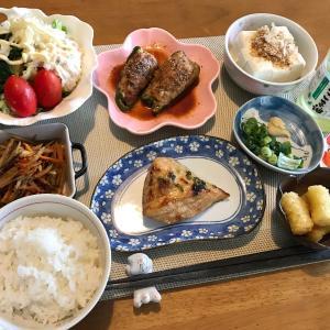 カジキマグロの味噌漬け焼き定食