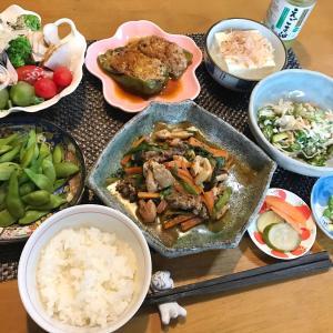 鶏肉炒め定食