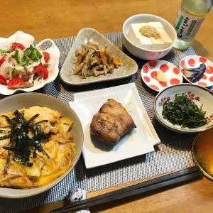 カジキマグロの照り焼きと親子丼