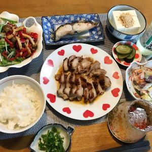鶏もも肉の味噌漬け焼きと鰆の味噌漬け焼き定食