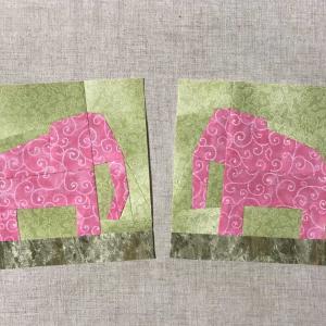 幸せを呼ぶ ピンクの象(型紙リンク有り)