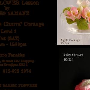 """""""First in KL"""" corsage workshop in October!  KL初!コサージュレッスン開催します♪"""