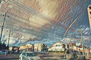 三時に見た虹