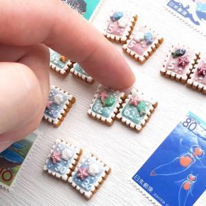 夏のアイシングクッキー 海の切手
