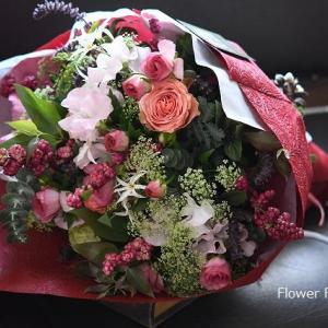 *本日お届けした花束♪   *