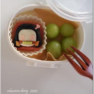 禰豆子のスイーツ付き♡ムスメの遠足お弁当。