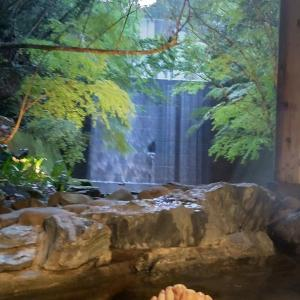 琴平温泉で水に流す