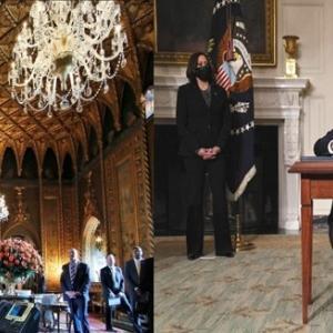 左は前大統領、右は現?大統領。