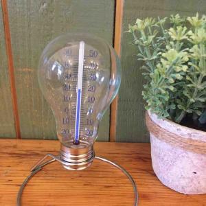 温度を教えてくれる♪おしゃれな電球型の温度計☆