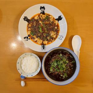 黒胡麻担担麺と麻婆豆腐、両方作ってみました