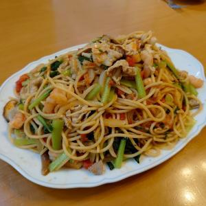 有楽町のジャポネに思いを馳せて、ジャリコ風のスパゲッティを作ってみました