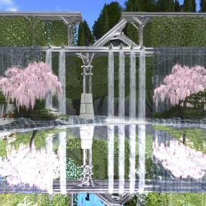 展示場は桜満開