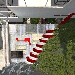 シマシマ階段が追加ショップへの道