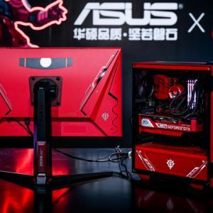 ASUSがTUF GAMINGブランドでシャア専用ザクのゲーミングモニター&PCパーツを出す