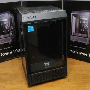 Thermaltake 『The Tower 100』 レビューチェック ~コンパクトになったショーケースタイプのMini-ITX PCケース