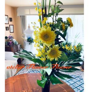 ヒマワリと組み合わせるとかわいいお花たちのご紹介。