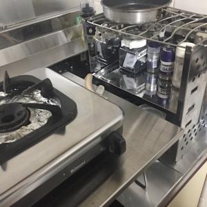 家でアウトドア製品を使ってコンパクトなキッチンを構築する