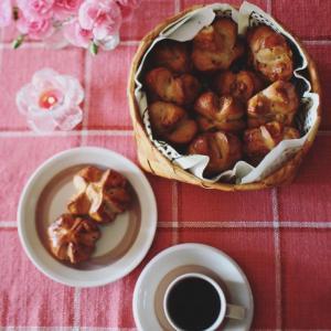 くるみパンと北欧のピンクコーディネイト