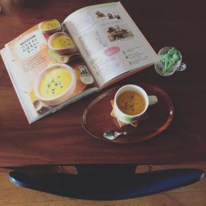 ARABIA APILAで次女作にんじんとかぼちゃのスープ