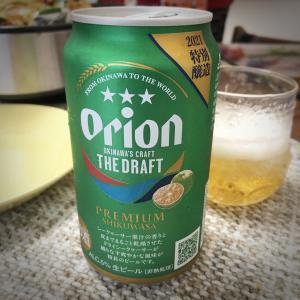 Orionビールと沖縄のマグロ