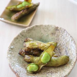 (おかずレシピ)枝豆のバター醤油焼き