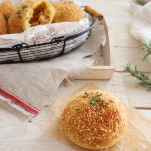 (パンレシピ)焼きカレーパン