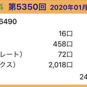 【ナンバーズ4】1月17日、5350回結果