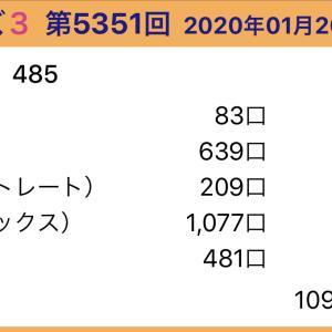 【ナンバーズ3】1月20日、5351回結果