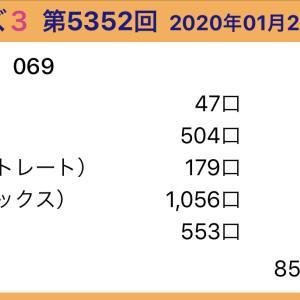 【ナンバーズ3】1月21日、5352回結果