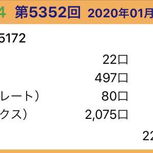 【ナンバーズ4】1月21日、5352回結果