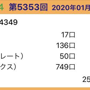 【ナンバーズ4】1月22日、5353回結果