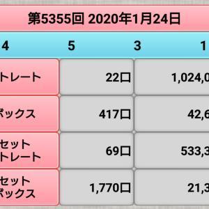 【ナンバーズ4】1月24日、5355回結果