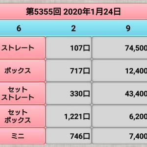 【ナンバーズ3】1月24日、5355回結果