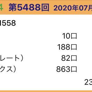 【ナンバーズ4】7月29日、5488回結果
