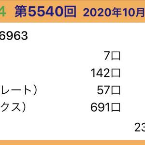 【ナンバーズ4】10月9日、5540回結果
