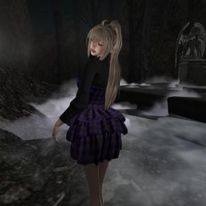 [GRIM SMOOCH]Check clothes_Purple