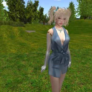 erratic / liceria - dress / slate (maitreya)