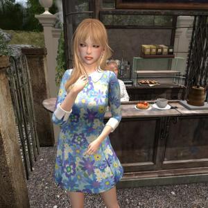 *GF* Cindy Floral Dress -blue-