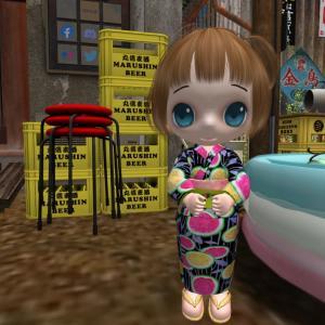 *FG* CHIBIT Summer Kimono (Watermelon-PatternP)
