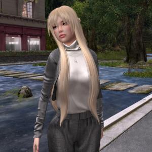 Lunacat :.Esber Short Coat with Pant - Grey.: